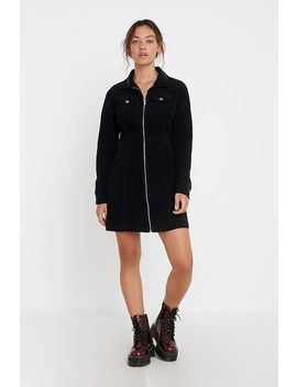 Uo   Robe Courte June Zippée En Velours Côtelé by Urban Outfitters
