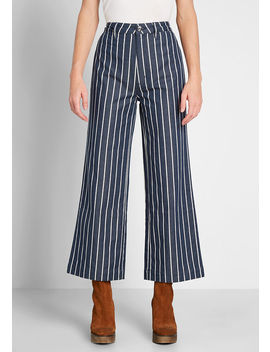 Stripe A Pose Wide Leg Pants by Rolla's