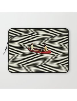 Illusionary Boat Ride Laptop Sleeve by Society6