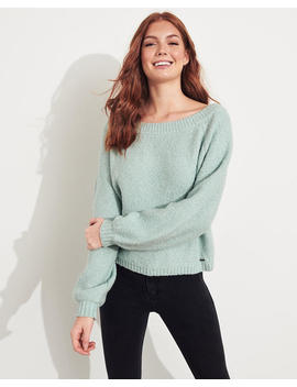 Slouchy Boatneck Sweater by Hollister