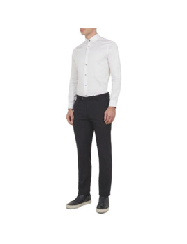 Otta Satin Effect Cotton Stretch Shirt by Ted Baker