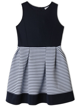 Annabelle Knitted Stripe Dress (9 16 Years) by Origami