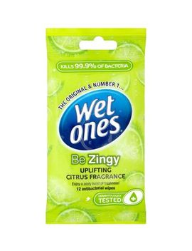 Wet Ones 'be Zingy' Uplifting Anti Bacterial Wipes 12 Pack by Wet Ones