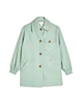 Sage Shacket With Wool by Topshop