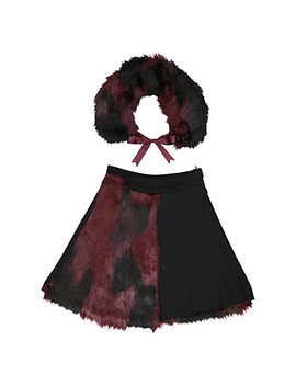 Teela Nyc Rose Half Fur Skirt by Teela Nyc