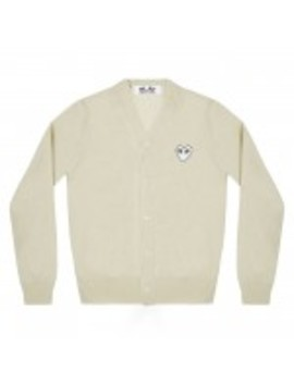 Play White Heart Men's Cardigan (Natural) by Dover Street Market