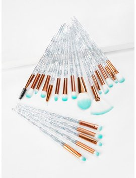 Clear Handle Makeup Brush 20pcs by Shein
