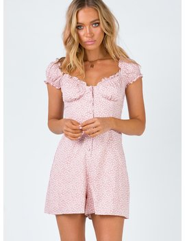 Sharna Playsuit Pink by Princess Polly