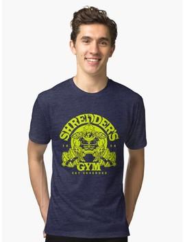 Shredders Gym Tri Blend T Shirt by Slash Print