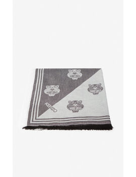 Large Two Tone Tiger Scarf by Kenzo