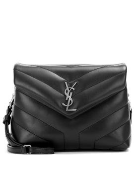 Monogram Strap Leather Shoulder Bag In Eero by Saint Laurent