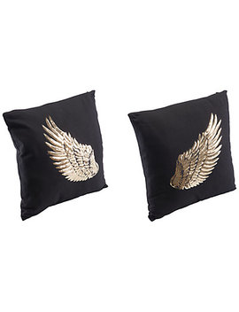 Set Of 2 Metallic Wings Pillows by Zuo