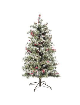 Fast Shape Snow Needle Pine Pre Lit Christmas Tree   4 1/2' by Hobby Lobby