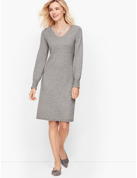Poet Sleeve Shimmer Sweater Dress by Talbots