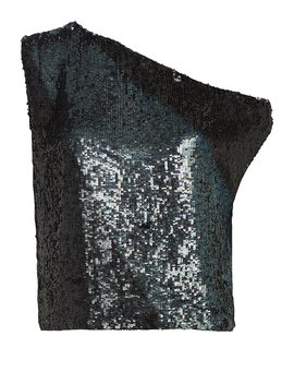 Michelle Off The Shoulder Sequin Top by Retrofête