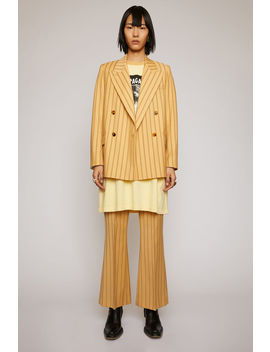 Double Breasted Pinstripe Jacket Pale Orange by Acne Studios
