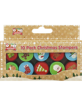 Christmas Stampers   Pack Of 10 by The Works