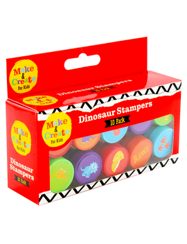 Dinosaur Stampers   10 Pack by The Works