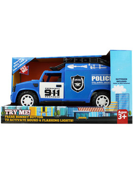Light Up Friction Powered Emergency Police Truck by The Works