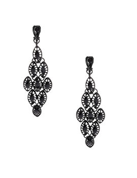 "2.5"" Chandelier Clip On Drop Earrings   Black by Claire's"