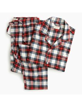 Flannel Pajama Set In Snowy Stewart Tartan by J.Crew
