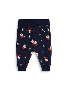 Baby Boy Navy Santa Claus Christmas Leggings by Primark