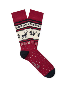 Fair Isle Cotton Blend Socks by Corgi