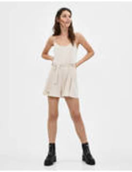Romper With Criss Cross Back by Bershka