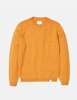 Norse Projects Sigfred Lambswool Knit Sweatshirt   Montpellier Yellow by Garmentory