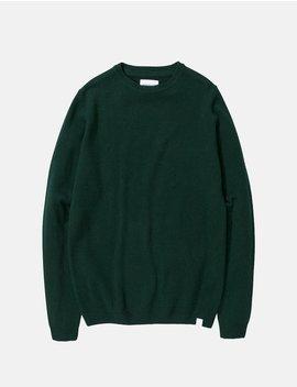 Norse Projects Sigfred Lambswool Knit Sweatshirt   Quartz Green by Garmentory