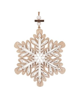 Printed Snowflake Christmas Hanging Decoration by Maisons Du Monde