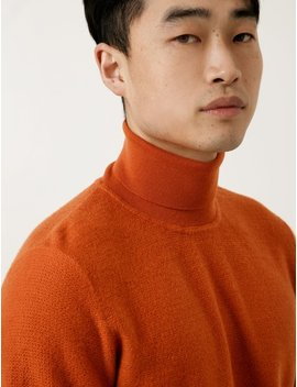 Norse Projects Mens Marius Brushed Structure    Ochre by Garmentory