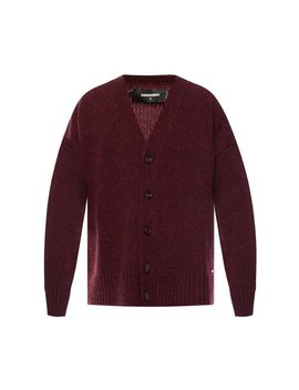 Burgundy Wool Cardigan by Dsquared2