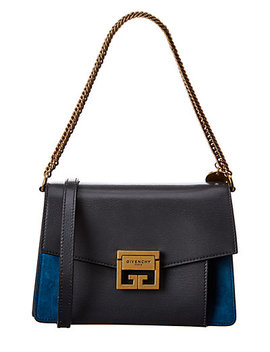 Givenchy Gv3 Small Leather & Suede Shoulder Bag by Givenchy