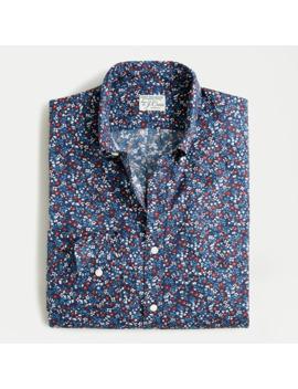 Slim Stretch Secret Wash Shirt In Botanic Print Organic Cotton by J.Crew