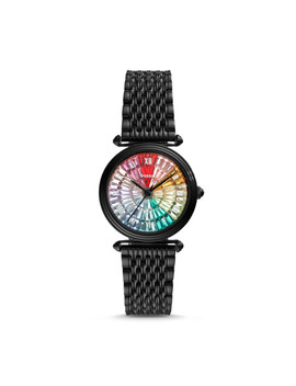 Limited Edition Lyric Three Hand Black Stainless Steel Watch by Fossil