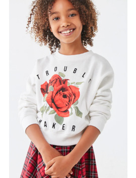 Girls Rose Graphic Sweatshirt (Kids) by Forever 21