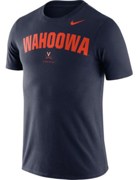 Nike Men's Virginia Cavaliers Blue Dri Fit Phrase T Shirt by Nike