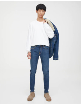 Blaue Jeans Im Super Skinny Fit by Pull & Bear