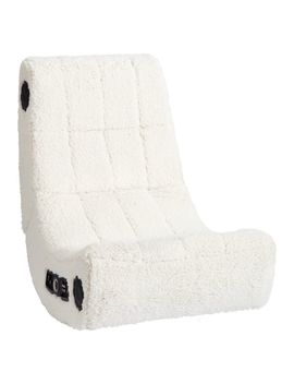 Sherpa Ivory Modern Media Gaming Chair by P Bteen