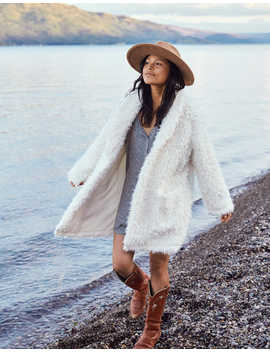 Aerie Fuzzy Sherpa Coat Igan by American Eagle Outfitters
