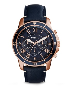 Fossil Grant Sport Blue Leather Watch Fs5237 by Fossil
