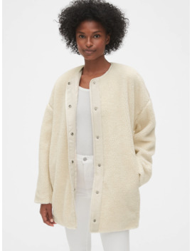 Oversized Teddy Cocoon Jacket by Gap