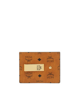 Money Clip Card Case In Visetos Original by Mcm