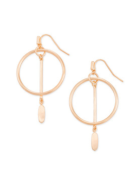 Nalani Open Frame Earrings In Rose Gold by Kendra Scott