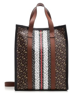 Burberry Monogram Striped Small Tote Bag by Burberry Burberry