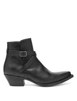 Lukas 40 Leather Boots by Saint Laurent