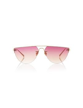 Corsaro D Frame Gold Tone Sunglasses by Spektre