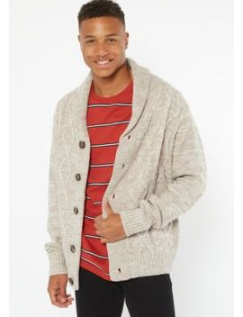 Sand Space Dye Cable Knit Cardigan by Rue21