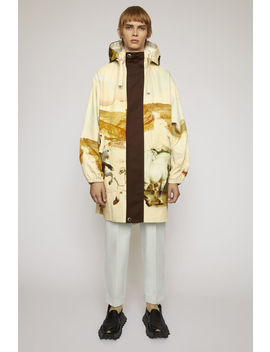 Horse Print Fishtail Parka Cream Multi by Acne Studios